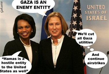 Rice and Livni Get Tough
