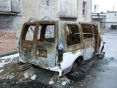 Toasted Van 1 -Midtown Detroit, 2009 (Erik Twight) Tags: detroit 2009 january4