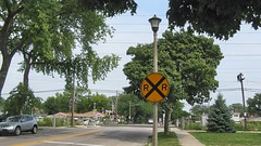The CTA, Kostner Avenue railroad crossing. Skokie Illinois. August 2008.