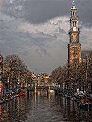 Westerkerk amsterdam western church (Baby Skinz) Tags: tower clock church amsterdam bike canal western westerkerk westernchurch