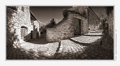 Memories from Montpeyroux | Panorama (Brk) Tags: france architecture nikon village assemblage sigma pierres rue 1224mm auvergne ancien panoramique puydedme sancy d300 mdival ruelles autopano et montpeyroux brk cylindrique panoprama 360adjuste fortifiarkose
