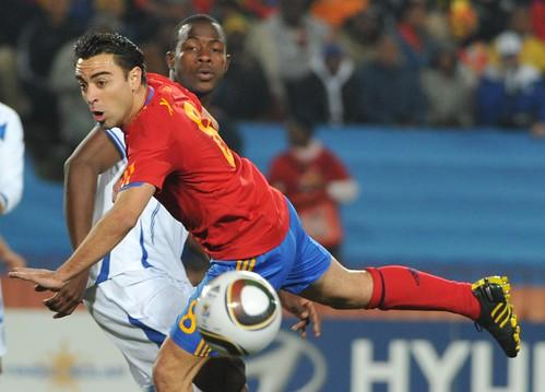 España versus Honduras Mundial fútbol Xavi