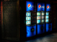 """Pepsi Ad"" (M Champagne) Tags: street toronto ontario night cola lifestyle vendingmachine pepsi softdrink"