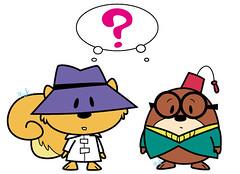 chibi character: Secret Squirrel and Morocco Mole