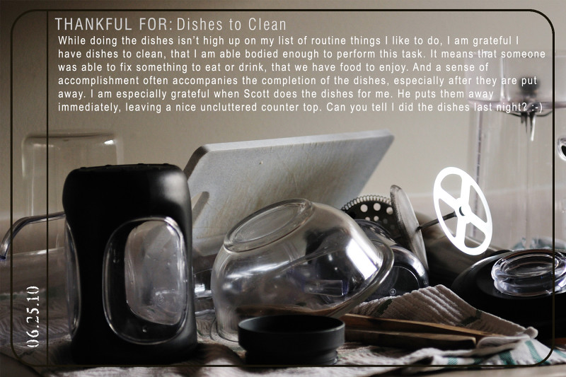 Weekly Gratitude - Dishes to Clean