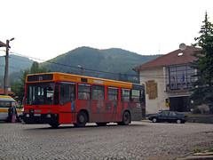 Autobus Iveco 480.10 Kladnitsa Bulgaria   480.10  2007 . (Balkanton) Tags: building bus nature car sign architecture club design post flag advertisement bulgaria signboard cultural