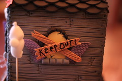 Keep OUT! (Andrea's SweetCakes) Tags: moon halloween graveyard leaves cat stars gate ghost pumpkins headstones bats hauntedhouse skullsbones