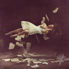 stirring dust (brookeshaden) Tags: pages sleep library levitation books warehouse explore workshop dreams frontpage missaniela brookeshaden 1162010