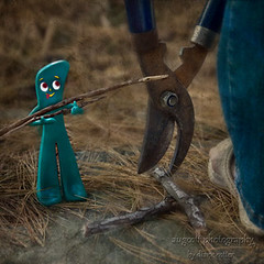 Gumby is being ..... (augcott) Tags: photoshop canon square gumby photoshopelements tamron1750 450d rebelxsi pse7