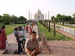 Me in front of the Taj Mahal