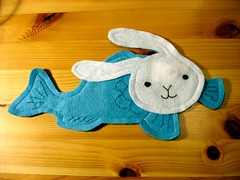 Bunnyfish in felt (front)