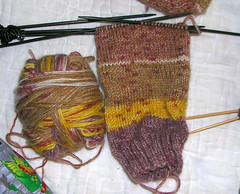 Simple Sock using Step Yarn