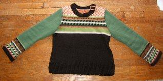 Fair Isle sweater from Vogue Knitting