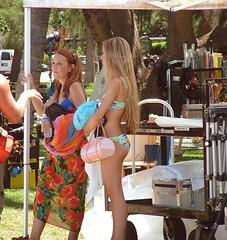 TV Set NBC Las Vegas (colleeninhawaii) Tags: camera hawaii tv waikiki oahu scene crew bikini actor microphone swimsuit filming