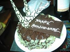 happy anniversary cake (kapil_b) Tags: travel cake holidays chocolate kolkata calcutta whitechocolate happyanniversary