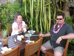 Tim and Steve about to enjoy the Old Lahaina Luau. (07/04/07)