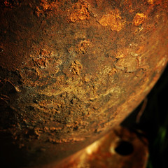 #195 Rusted globe - by ☻mrhappy☻