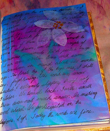 flower journal page