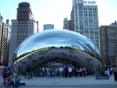 cloud gate (kthypryn) Tags: trip vacation chicago art awesome milleniumpark cloudgate fascinating silverpill