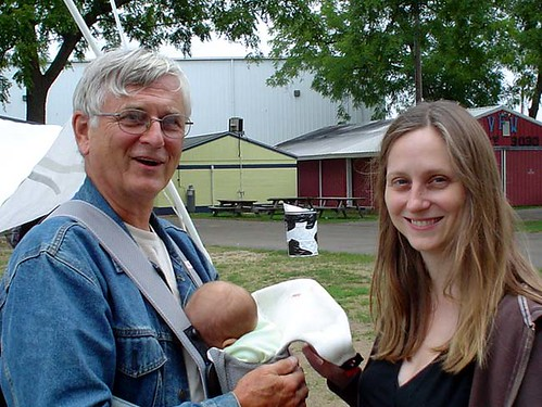 Theresa, her Dad and Baby Z