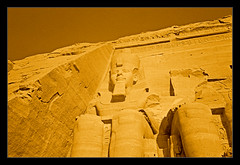 Abu Simbel. Egypt.- (ancama_99(toni)) Tags: pictures africa old trip travel vacation sculpture holiday color art history nature monochrome yellow sphinx sepia vintage geotagged photography gold photo ancient king arte desert pyramid photos islam egypt picture esculturas mosque photographic nile escultura cairo estatuas egyptian temples pyramids egipto aswan sculptures giza egitto egipte ramsesii egypte islamic 2007 1000views afrique  abusimbel pharoh egipt ramessesii egyptien ramsesthegreat sungods ancama99