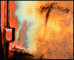 door hinge (eYe_image) Tags: abstract rust paint junkyard colourartaward