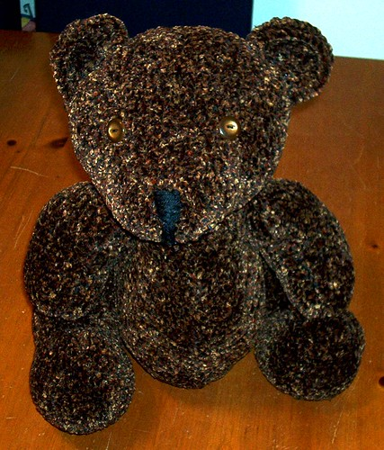 Knitting Teddy Bear