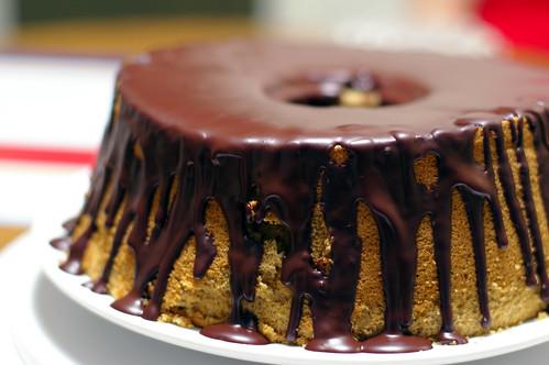 Espresso Chiffon Cake with Bittersweet glaze