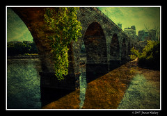 Old Stone Arch Bridge (James Neeley) Tags: bridge texture landscape lomography stonearchbridge minneapolisminnesota texturized