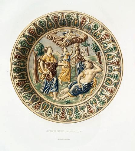 008-Jupiter y Calisto-Museo de Cluny-Monographie de l'oeuvre de Bernard Palissy…1862