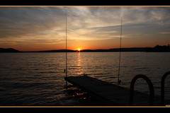 another sunset ... (aneczka :)) Tags: blue sunset sky usa nature water wisconsin rods lakewisconsin