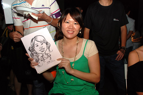 caricature live sketching for SDN First Anniversary Bash - 14