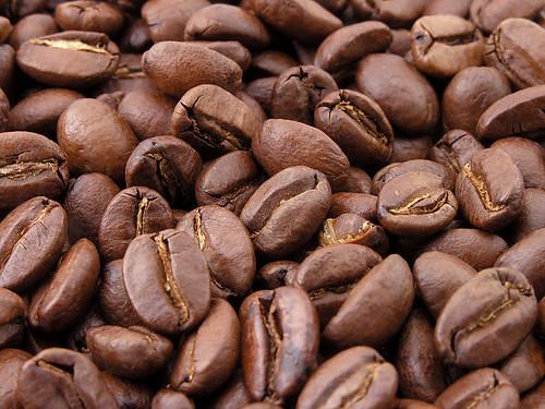 Prażone ziarna kawy