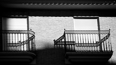 square the circle (jenny downing) Tags: light shadow distortion lines contrast evening iron shadows bright balcony curves wroughtiron shutters balconies blinds curved shut jennypics jennydowning photobyjennydowning ©jennydowning2010