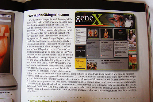 Ironman Magazine features genex magazine