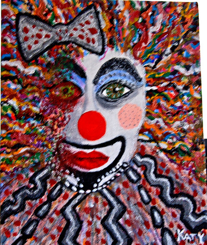 Whore clown in decline (8 X 10)