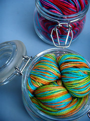 summer preserves. ({ philistine made }) Tags: love water sweet handpainted preserves vesper stinks knitterlythings fiberlicious
