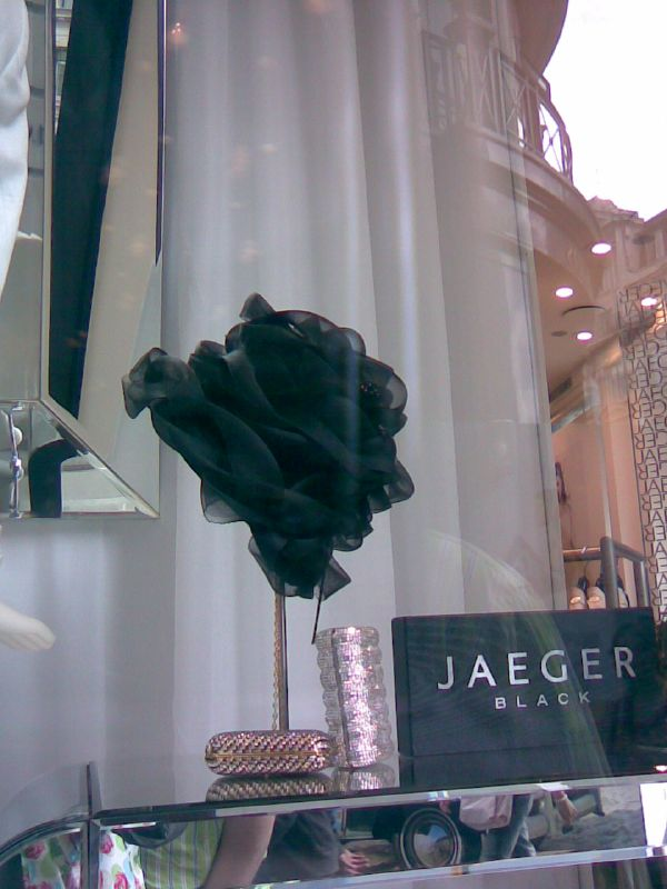 Hat at Jaegers shop window