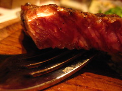 Close-up of my sirloin, medium
