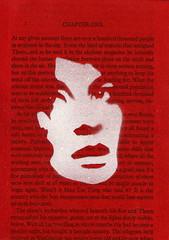 assassin (Pam Glew) Tags: red portrait white cinema art film america painting paper graffiti book words stencil war acrylic contemporaryart text fear politics patriotic porno american pam gore actress horror terrorism shock pornography spraypaint nightmare glimpse paranoia swf anxiety possession redandwhite assassin dollface americandream horrorfilm stencilgraffiti glew booktext hollywooddisaster pamglew