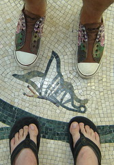 feet (vegaslamb) Tags: feet butterfly tile shoes toes lasvegas sandals nevada conservatory bellagio edhardy olukai