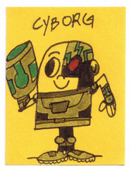 Cyborg on a tiny Post-It