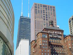 Allerton (GmanViz) Tags: sky chicago color architecture buildings hotel michiganave hancock gmanviz sonycybershotf707