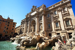 Trevi Fountain (` Toshio ') Tags: people italy rome roma building history fountain europe italia roman coins tourists trevifountain europeanunion romanholiday toshio acquavergine aplusphoto excapture