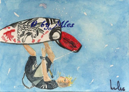 ACEO - Kite Surfing - EBSQ
