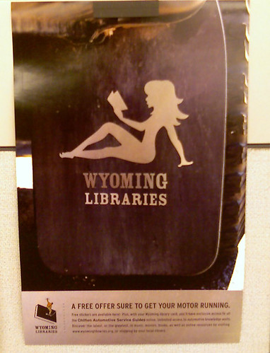 picture of mudflap poster for Wyoming libraries