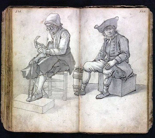 shoemaker and man sitting
