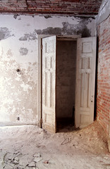 (hopefuldoubtful) Tags: brick abandoned doors decay plaster dust derelict hanger decayed ruination physicalculturehotel
