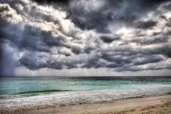 tropical storm (richietown) Tags: ocean sun storm rain topv111 clouds canon mexico sand waves rivieramaya hdr 30d sigma1020mm photomatix 3exp mywinners richietown alcielo addtoimagekind