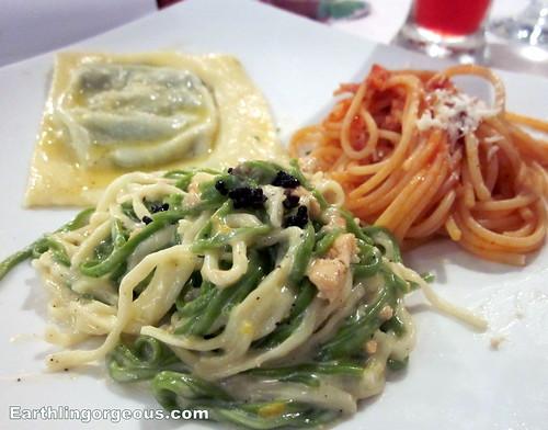 Pasta Trittico: Ravioli, Taglionini & Spaghetti